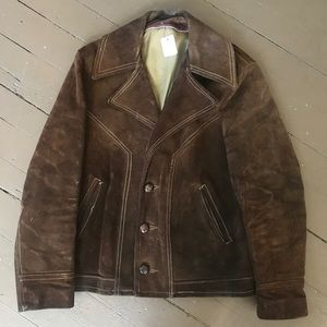 Vintage distressed Schott suede jacket